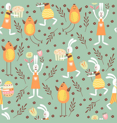 Seamless pattern on the theme of the vector