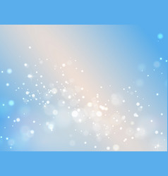 abstract blue bokeh background light effect vector image