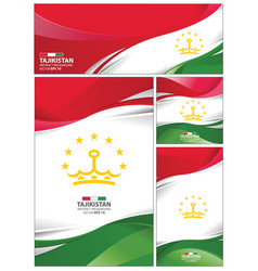 abstract tajikistan flag background vector image