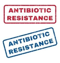 Antibiotic Resistance Rubber Stamps vector