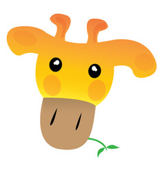Avatar of giraffe vector