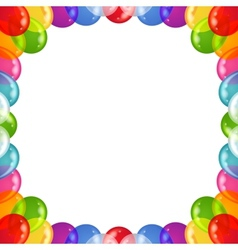 background balloons frame vector image