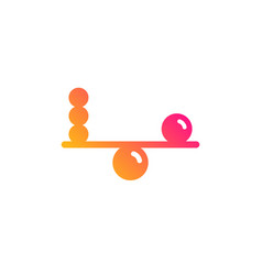 Balance icon mind stability sign vector