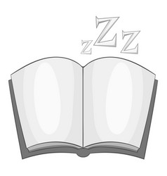 Bedtime story icon monochrome vector