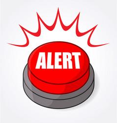 Big red alert button light flashing vector