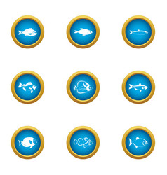 Billet icons set flat style vector