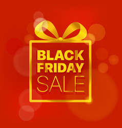 Black friday sale concept golden logo on red vector