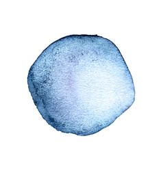 blue watercolor stain vector image