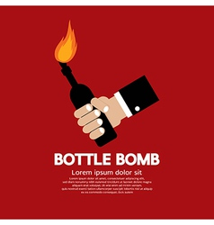 Bottle bomb vector