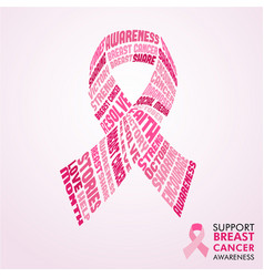 Breast cancer awareness month pink ribbon concept vector