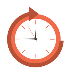 business clock time delivery service vector image