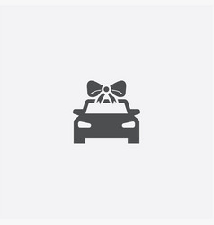 Car gift icon vector