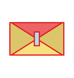 Card symbol to send important message vector