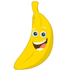 Cartoon banana fruit character vector