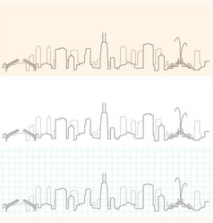 Chicago hand drawn skyline vector