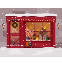 Christmas gift or presents shop store vector