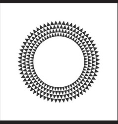 circular fractal design element vector image
