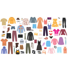 clothes and accessories vector image