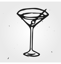 Cocktail hand drawn abstract vector