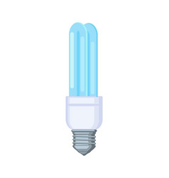 Colorful cartoon fluorescent light bulb vector