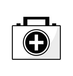 contour briefcase and first aid kit urgency vector image