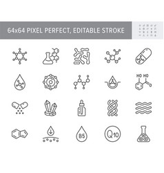 Cosmetic compounds line icons vector