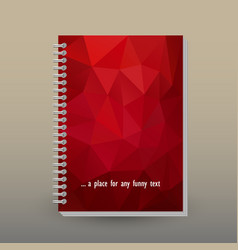 Cover of diary or notebook red triangular pattern vector