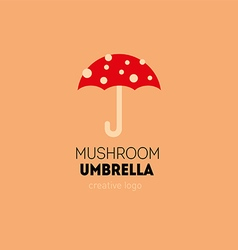 Creative logo with a double meaning umbrella in t vector
