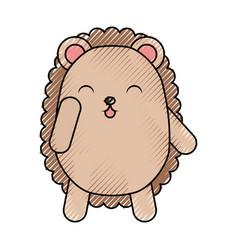 Cute scribble armadillo cartoon vector