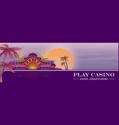 design for casino flyer or banner vector image