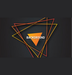 design of black abstract background with orange vector image
