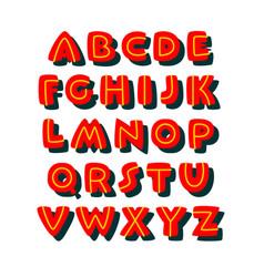 Doodle bold comic style font alphabet vector