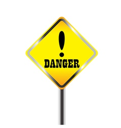 Exclamation danger signs vector