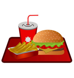 fast food combo vector image