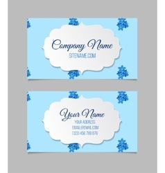 Floral business card template vector image