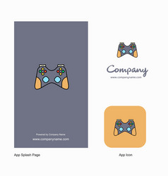 game controller company logo app icon and splash vector image