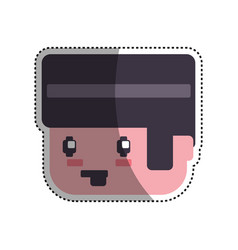gamer boy pixelated vector image