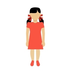 Girl character template vector