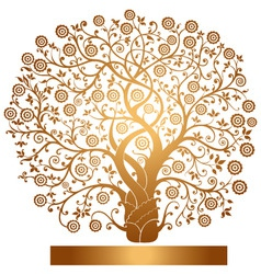 Gold tree vector