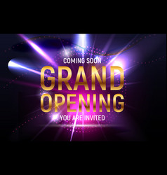 grand opening concept vector image