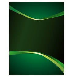 Green background with glossy elements vector image