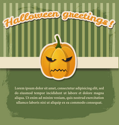 halloween festive abstract poster vector image