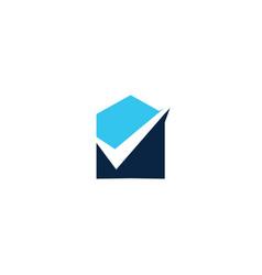 house check logo icon vector image