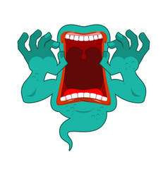 hungry ghost scary ghost spook horrible ghost vector image