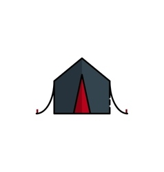Hunting icon Tent vector