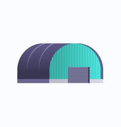 industrial building warehouse hangar icon factory vector image