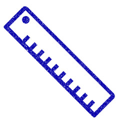 length ruler icon grunge watermark vector image