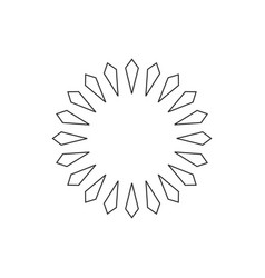 linear ornament circle flower abstract logo vector image