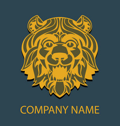 logo template head of a lion vector image