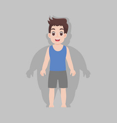 Man grows thin be fit loss weight vector